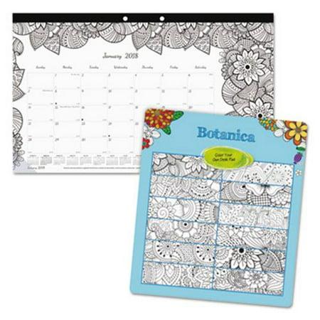 blueline doodleplan desk calendar wcoloring pages 17 34 x 10 7