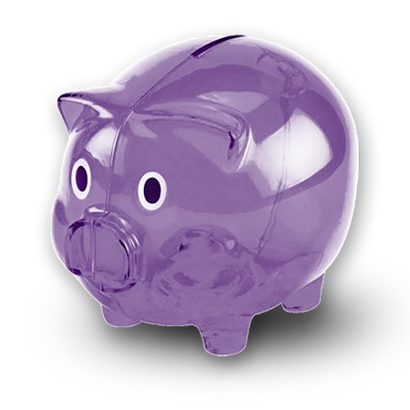 Transparent Cute Piggy Bank, Makes a Perfect Unique Gift, Nursery Decor, Keepsake, or Savings Piggy Bank for Kids