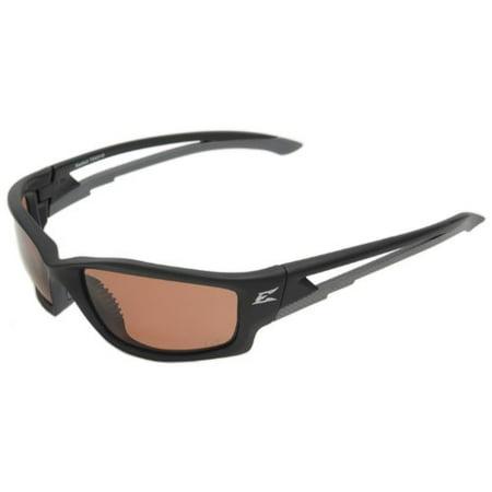 Edge Kazbek Xl Safety Glasses (TSK215 Kazbek Polarized Safety Glasses, Black with Copper
