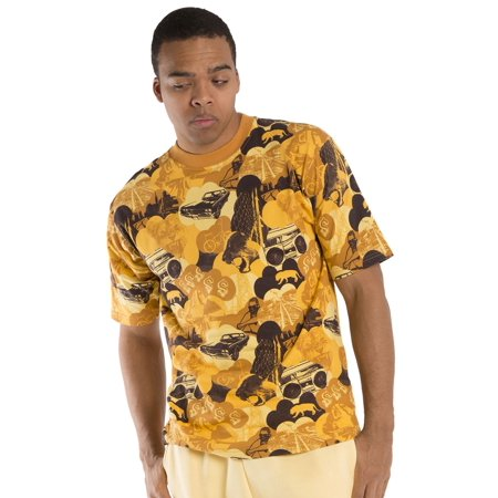 Halloween Store Jersey City (Vibes Men's Cotton Jersey T-Shirts City Jungle Printed Short Sleeve Relax)