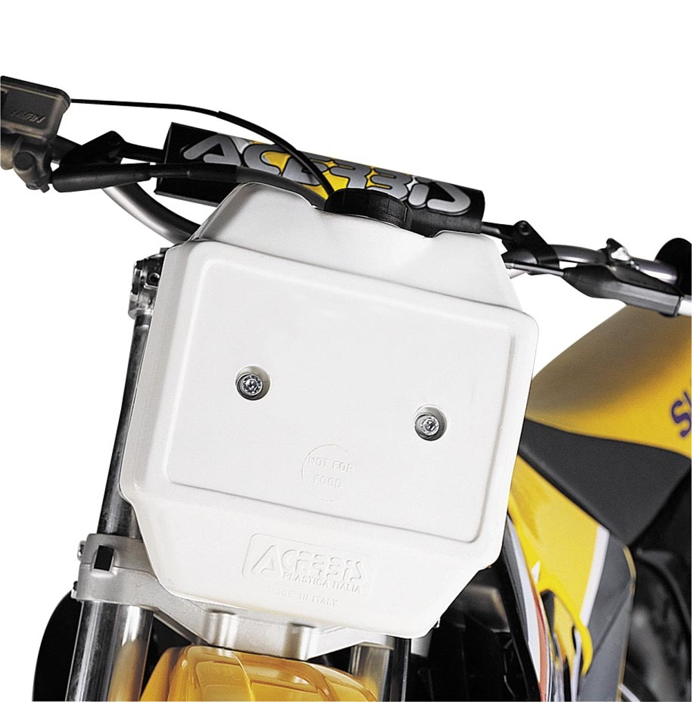 Acerbis 2044030002 Front Auxiliary Fuel Tank - 10in. x 9.5in. x 4.75in. - White - 1.3 gal.