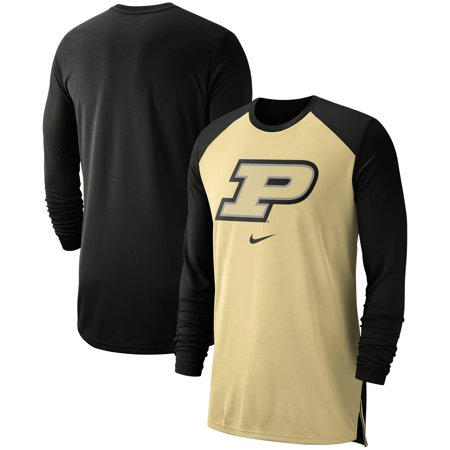 reputable site cb756 e4d6e Purdue Boilermakers Nike On-Court Basketball Elite Performance Long Sleeve  T-Shirt - Gold