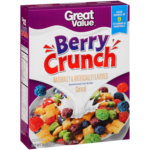 Great Value Berry Crunch Cereal, 26 oz