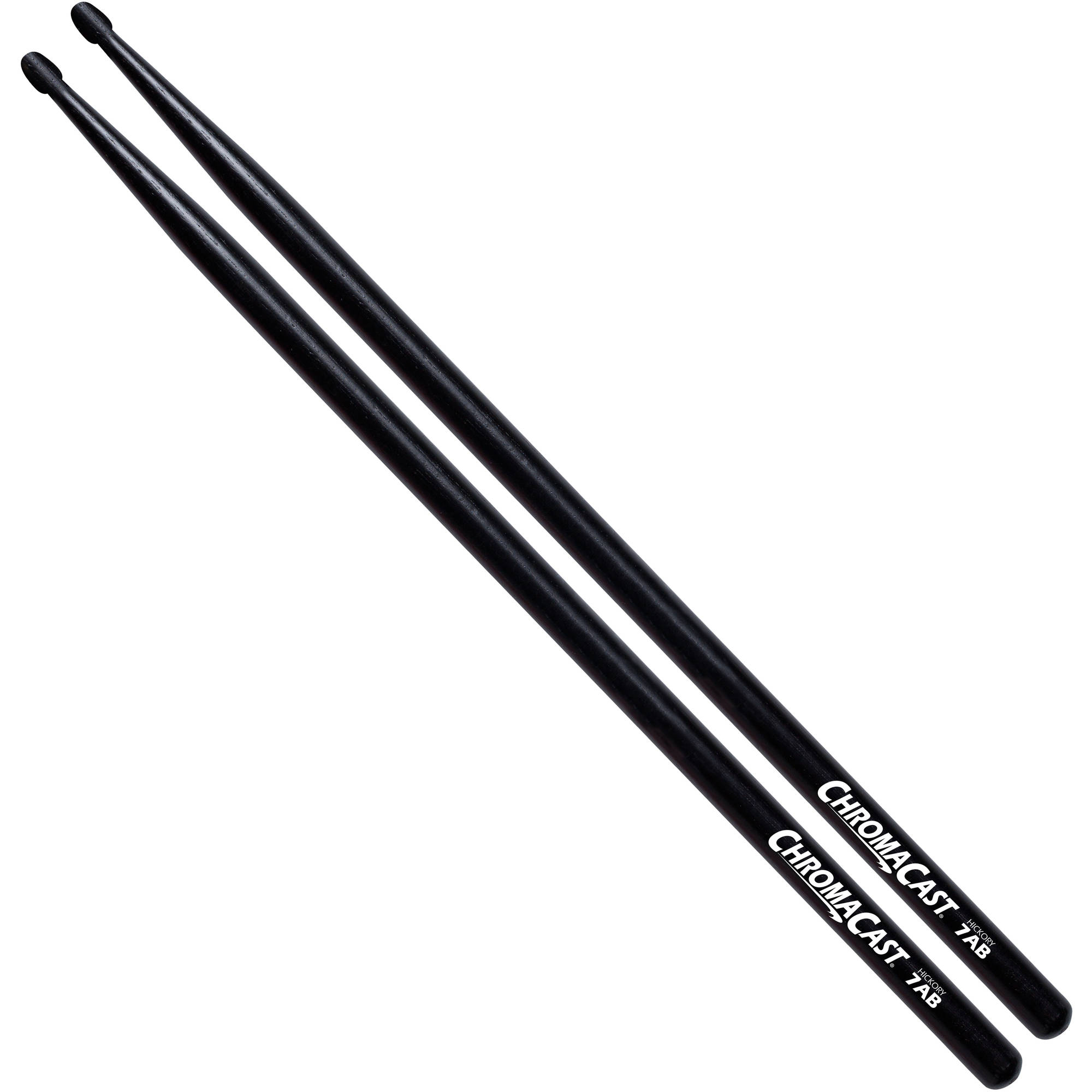 ChromaCast 7A Black Hickory Drumsticks by