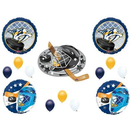 Nashville Predators Hockey Team Birthday Party Balloons Decoration Supplies](Hockey Balloons)