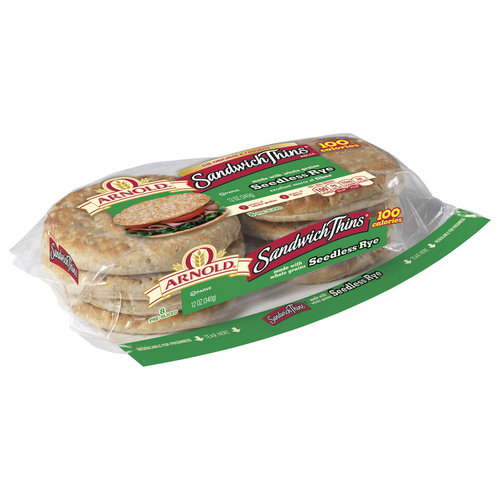 Arnold Seedless Rye Bread, 8 count