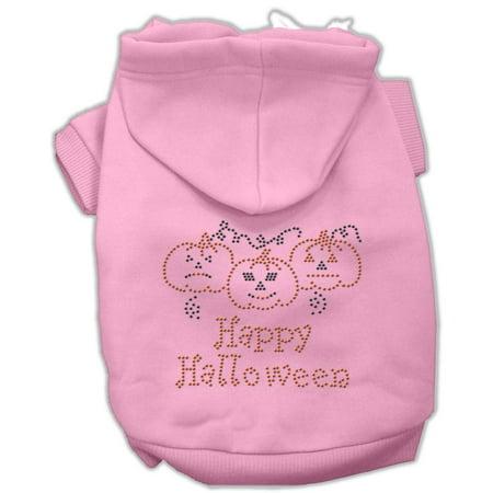 Happy Halloween L (Happy Halloween Rhinestone Hoodies Pink L)
