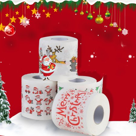 Christmas Printing Paper Toilet Tissues Novelty Roll Paper for Christmas Decoration - image 5 of 7