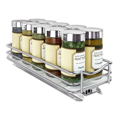 Lynk Professional® Slide Out Spice Rack Single-Tier 4-inch Wide