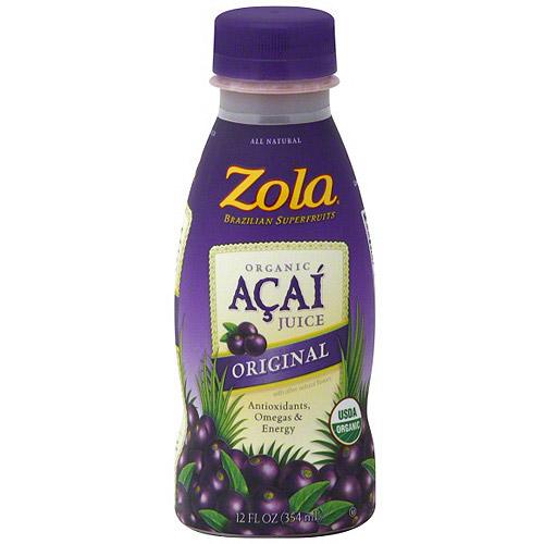 Zola Acai Original Juice, 12 oz (Pack of 12)