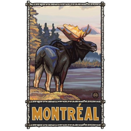 Montreal Quebec Canada Moose Travel Art Print Poster by Paul A. Lanquist (30