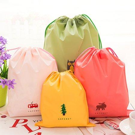 Travel Cartoon Waterproof Drawstring Travel Storage Bag Home Clothing Sorting Bag Bundle Pocket Set Bags - image 4 de 6
