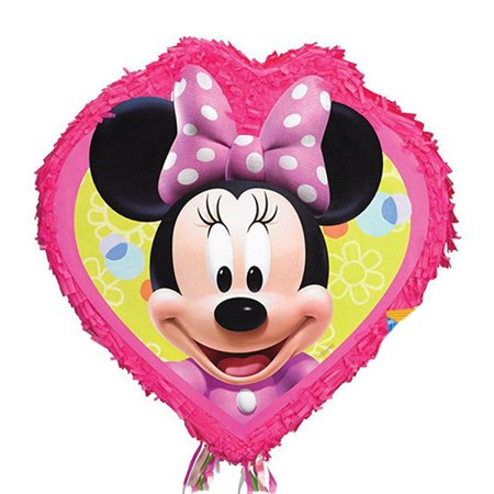 Disney Minnie Mouse Pull String Pinata - Baby Minnie Mouse 1st Birthday Pinata