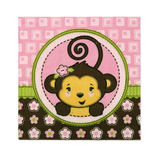 Monkey Girl - Beverage Napkins (16 count)