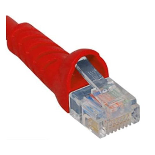 ICC Patch Cord, Cat 6 Molded Boot, Red ICPCSK03RD