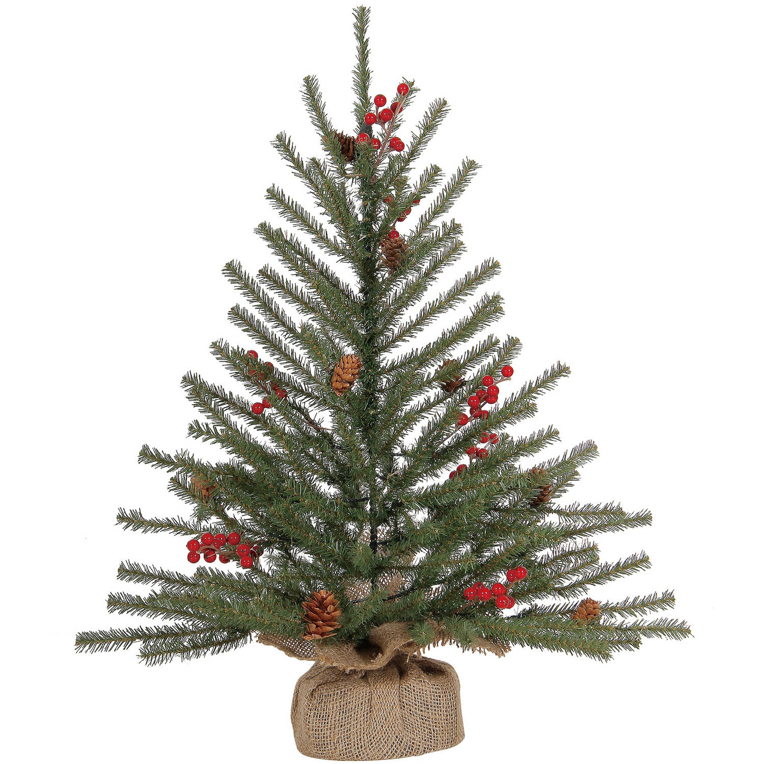 Holiday Time Christmas Ornaments 2' Harper Fir Artificial Mini Tree