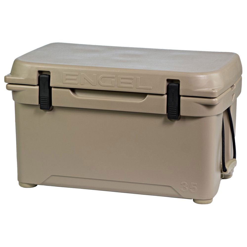 Engel 8.7 Gallon 42 Can 35 High Performance Seamless Roto Molded Ice Cooler, Tan