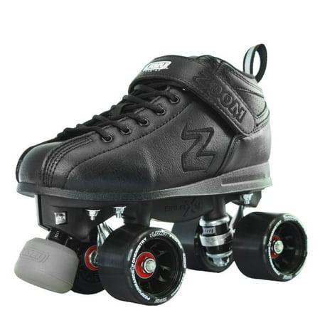 Crazy Skates Zoom Speed Roller Skates | High Performance Speed Wheels and Bearings | Black (Speed Skates Wheels Black)