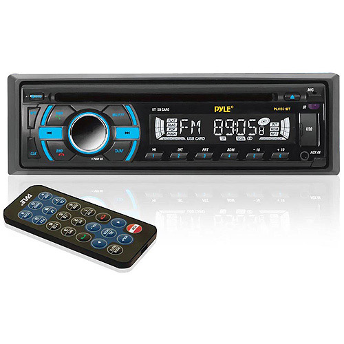 Pyle Audio PLCD51BT In-Dash Bluetooth Receiver with USB/SD Memory Slots, AUX Input for MP3 Playback and AM/FM Radio