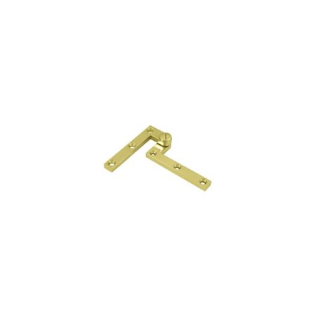 4.38 in. x 0.63 in. x 0.38 in. Pivot Hinge in Polished Brass - Pair ()