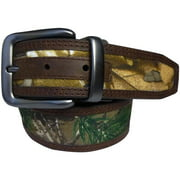 Realtree Stitched Reversible Belt, Reverses Realtree Edge to Brown, 950984W-981-30/32