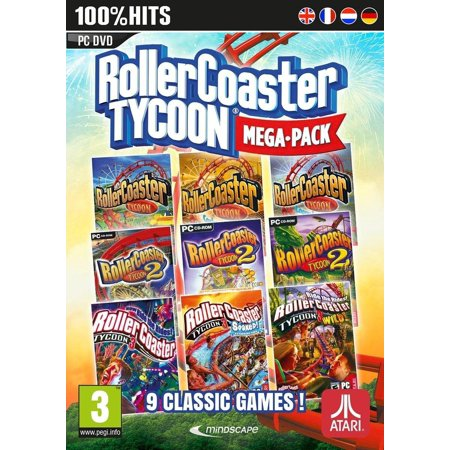 Atari Rollercoaster Tycoon Mega-Pack 9 PC Games (Best Cooking Games For Pc)