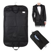 39.4*23.6 Inch  Dress Clothes Coat Garment Suit Cover Bag Dustproof Storage Protector Breathable Black