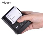 Aibecy Portable Wireless Bluetooth Thermal Receipt Printer Mini USB Bill POS Mobile Printer for Small Business Restaurant Retail Store