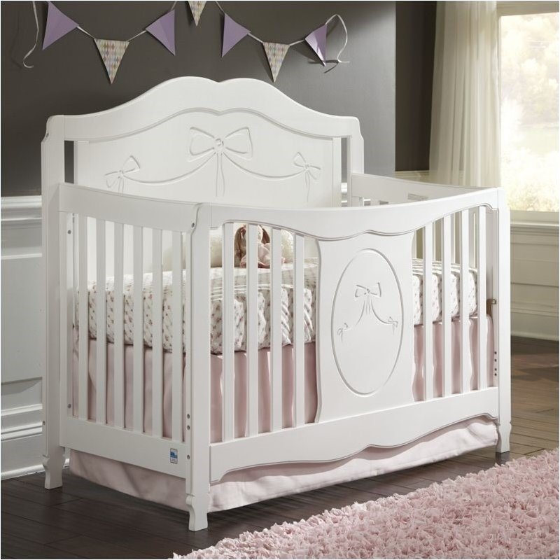 5 Cool Cribs That Convert To Full Beds: Pemberly Row 4-in-1 Convertible Crib In White