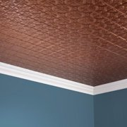 Fasade  Traditional Style #1 Antique Bronze 2-foot x 4. ft Glue-up Ceiling Tile