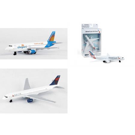 Allegiant  American  Delta Airlines Diecast Airplane Package   Three 5 5   Diecast Model Planes