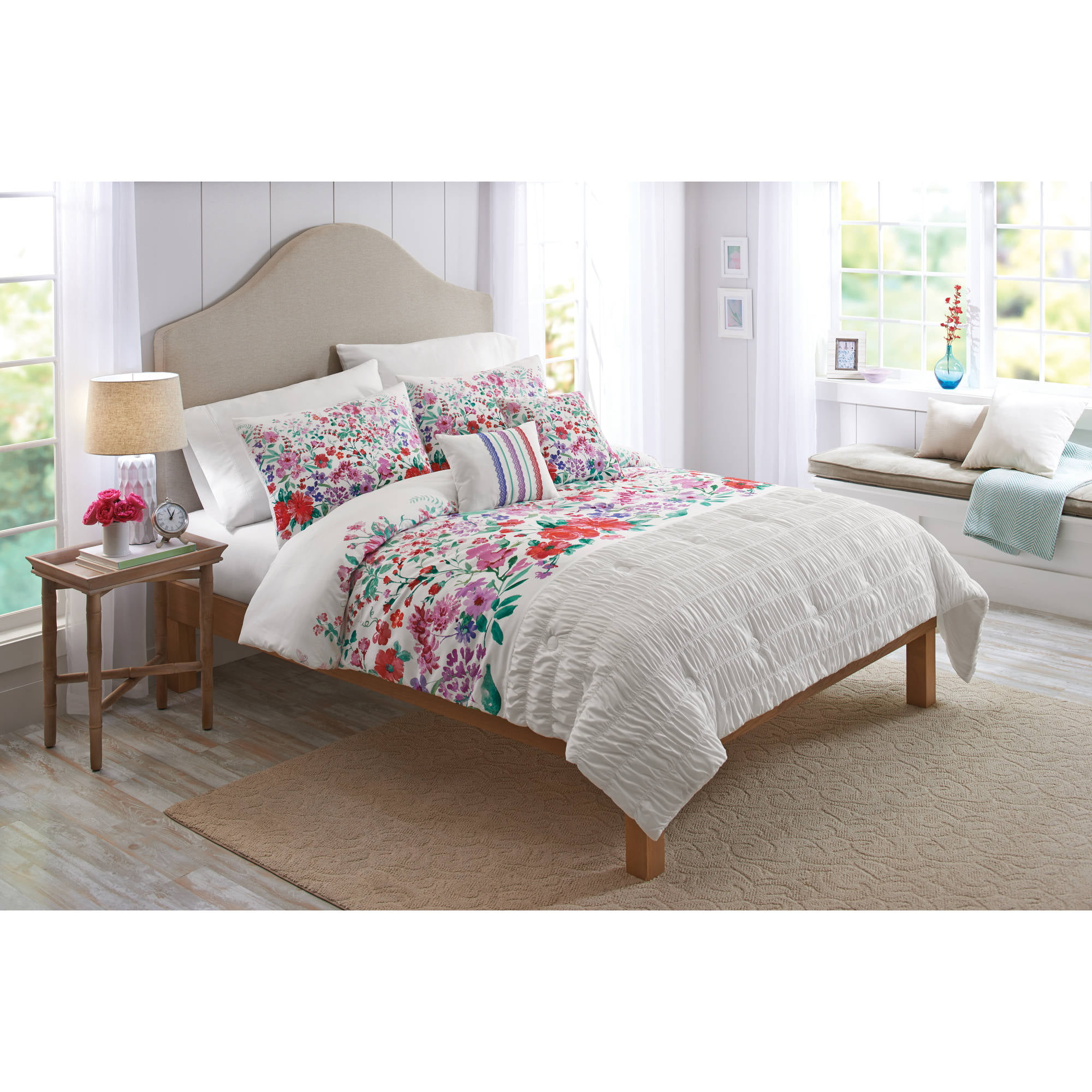 Better Homes and Gardens Watercolor Floral 5 Piece Bedding