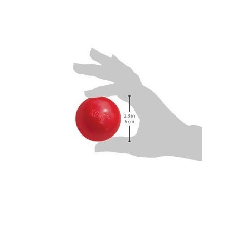 Hard Rubber Ball Dog Chew Tough Toy Red Durable Dental Health - Choose Size (Small 2.5 Inch)
