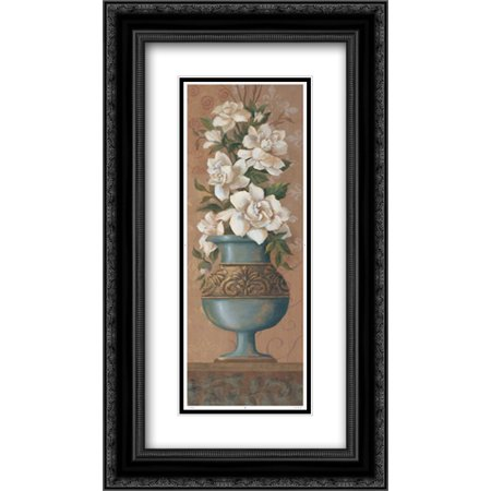 Courtly Roses (Courtly Roses III 2x Matted 14x24 Black Ornate Framed Art Print by Jeffrey, Jillian )