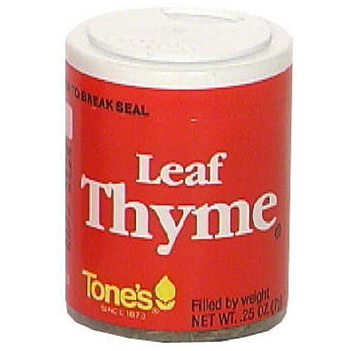 Tone's Thyme Leaf, 0.25 oz (Pack of 6)