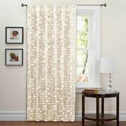 "Lillian Beige Window Curtain 40"" x 84"""
