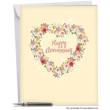J6578AANG Jumbo Anniversary Card: \'Heartfelt Thanks\' Featuring a ...