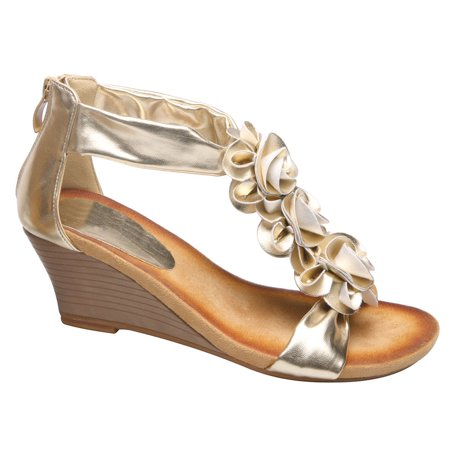 Patrizia Harlequin Sandal With Rose Details - Silver Or Gold covid 19 (Orange Leather Footwear coronavirus)