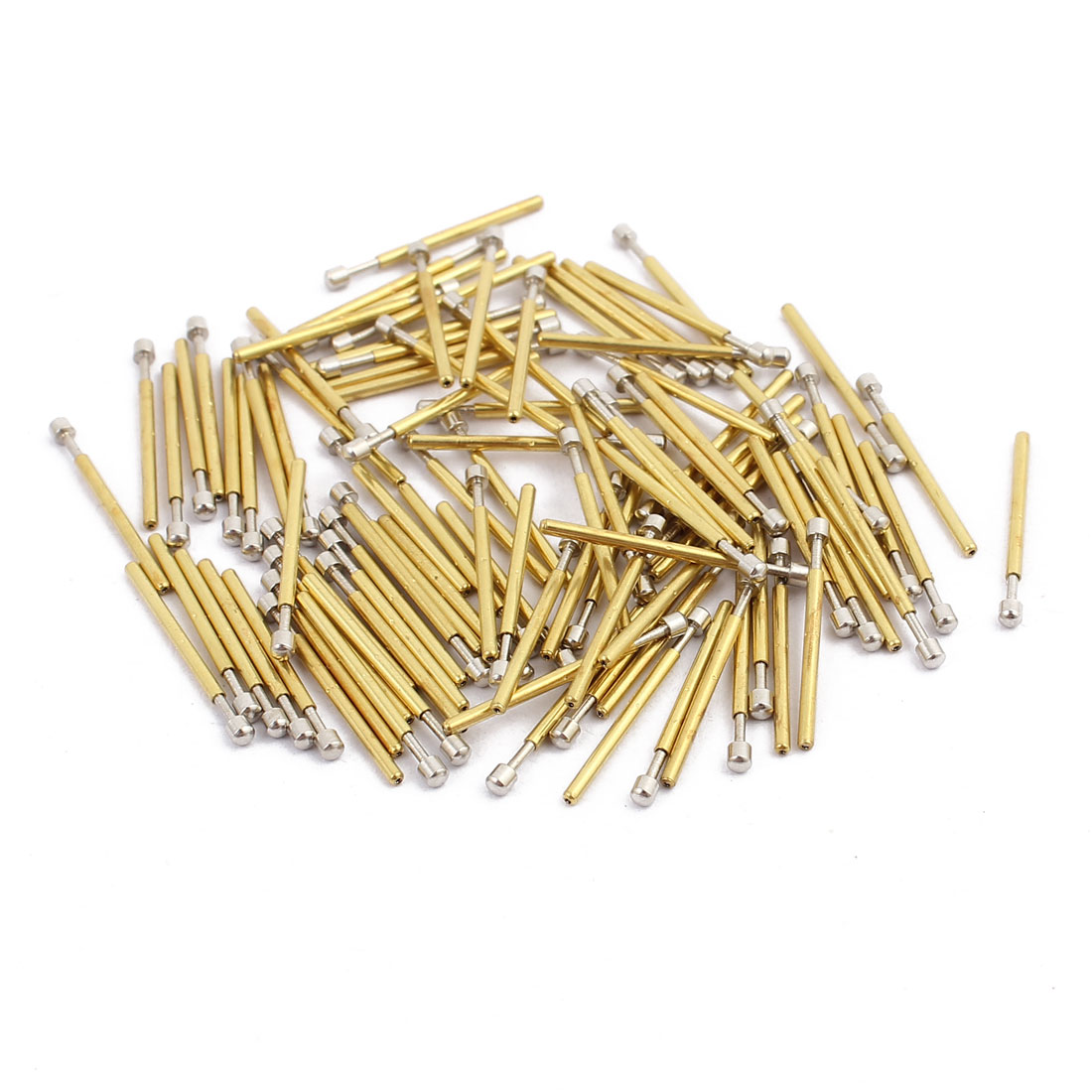 100pcs P75-D3 1.0mm Dia 16.8mm Length Metal Spring Pressure Test Probe Needle