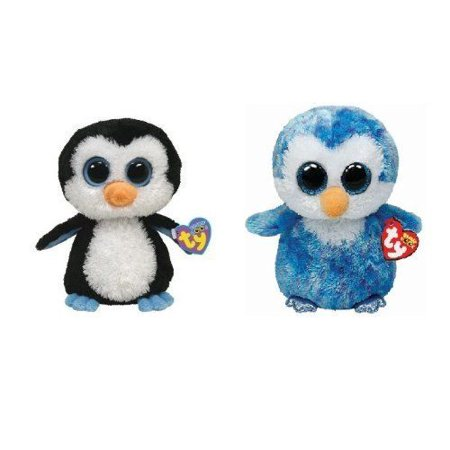 ba627ff23d6 Ty Ice Cube and Waddles Beanie Boos Penguins Set of 2 Soft Plush Toys -  Walmart.com
