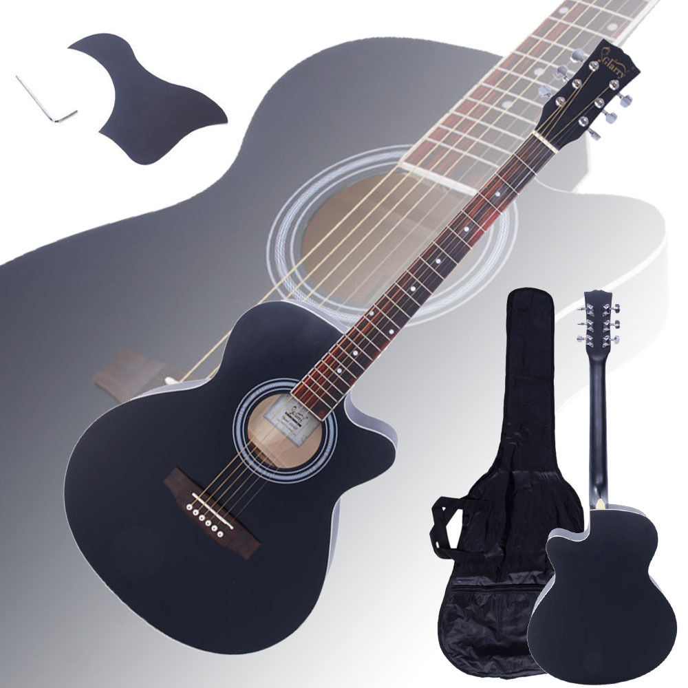 Ubesgoo New 40 Adult 6 Strings Cutaway Folk Acoustic Guitar Wood