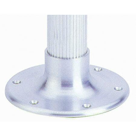 Garelick 75356:01 Table Pedestal for Larger Boats, Surface Mount Taper Socket Base Only