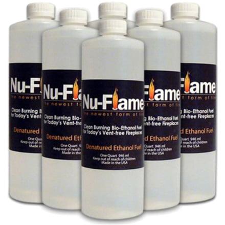 Bluworld Nu-Flame Bio-Ethanol Fuel 6 Pack
