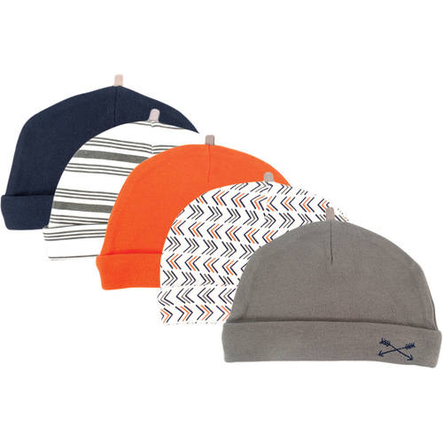 Yoga Sprout Baby Boy Caps, 5-Pack