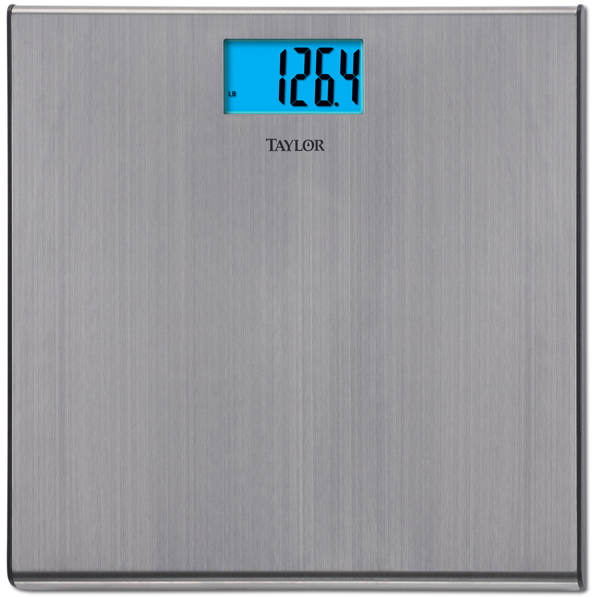 taylor 7403 brushed stainless steel ultra-slim bath scale