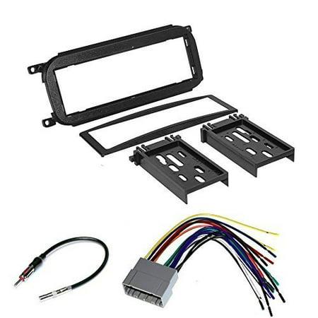 Bezel Dash Trim (jeep 2002 - 2007 liberty car radio stereo cd player dash install mounting trim bezel panel kit + harness)