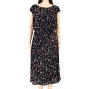 Womens Dress Plus Floral Belted 20W
