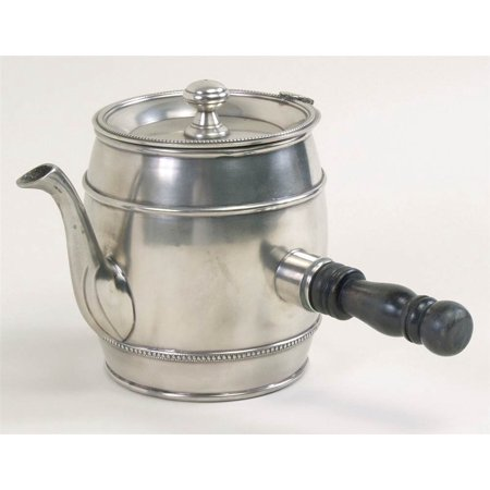 Barrel Teapot in Silver