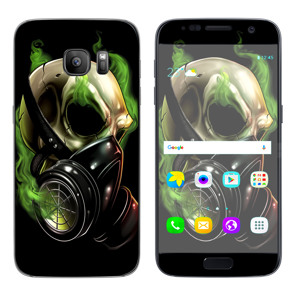 Skins Decals For Samsung Galaxy S7   Gas Mask Skeleton by Itsaskin