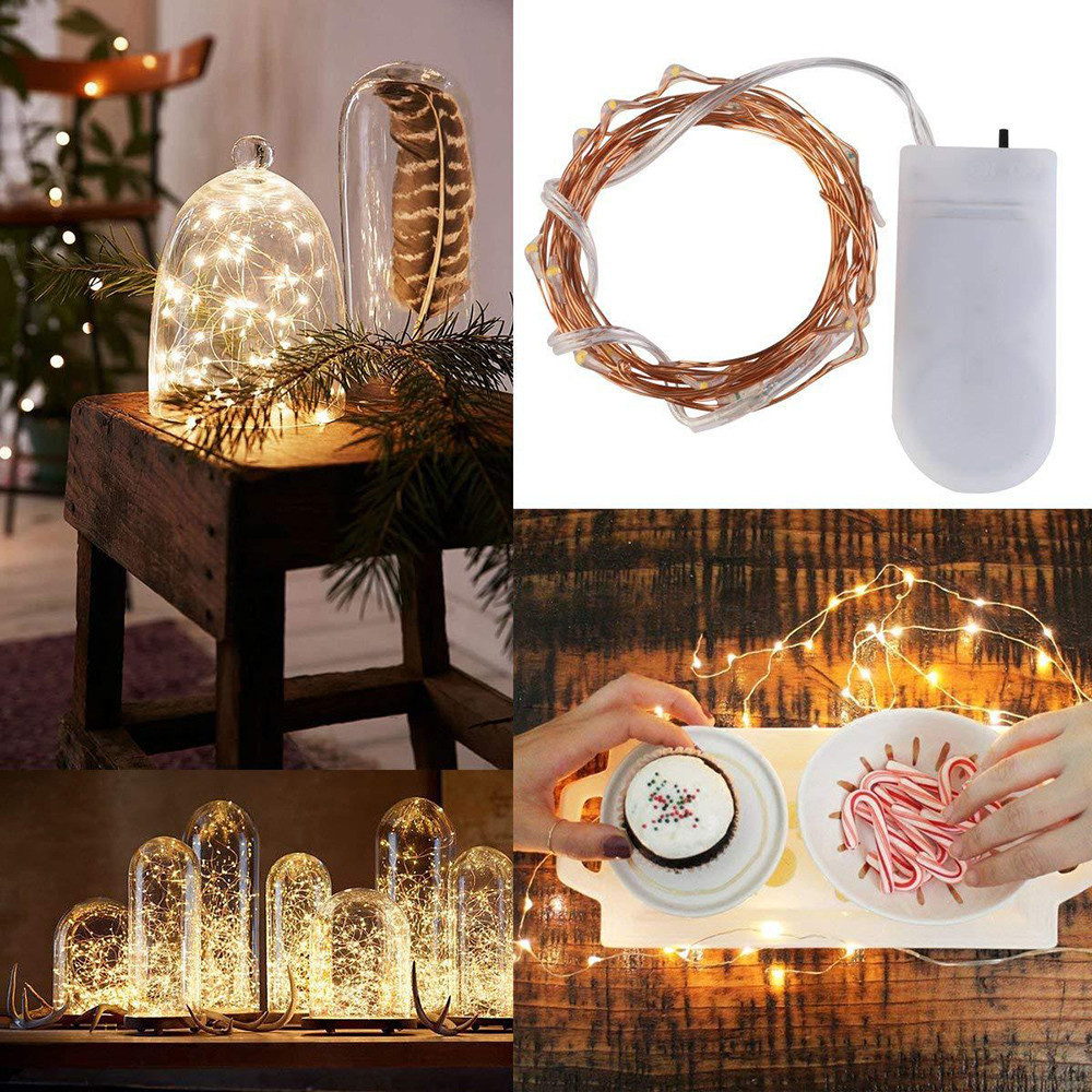 Fairy Light Battery Starry String Copper Wire Decor Christmas 15Pcs 2m 20LED